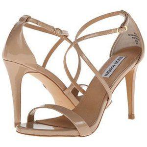Steve Madden Feliz Patent Leather Heel Sandal 9